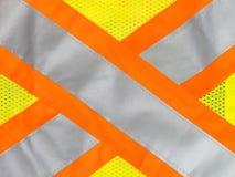 Safety vest reflective tape Royalty Free Stock Image