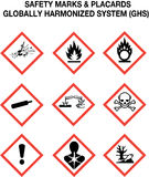 Safety Warning Signs Collection Royalty Free Stock Photos
