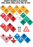 Safety Warning Signs Collection - Vector Royalty Free Stock Photography