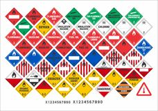 Safety warning signs - Transport Signs 2/3 - Vector. Vector international transport safety and warning signs of dangerous goods ADR, ADNR, IMDG, IATA, RID, 49 royalty free illustration