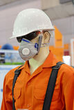Safety Wear. Model for Safety First Working Stock Photo
