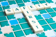 Safety word made by letter pieces Stock Photography