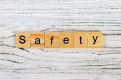 Safety word made with wooden blocks concept.  Royalty Free Stock Photos