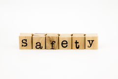 Safety wording isolate on white background Royalty Free Stock Photography
