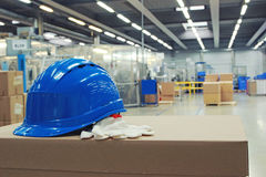 Safety. At work in the company royalty free stock image