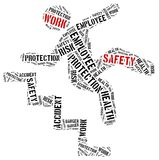 Safety at work concept. Word cloud illustration. stock illustration