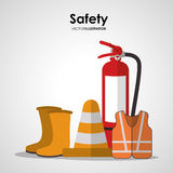 Safety at work icon design Stock Photos