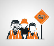 Safety at work icon design Stock Image