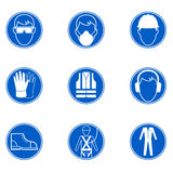 Safety at work signs Royalty Free Stock Image