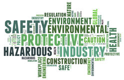 Safety in workplace concept Stock Images