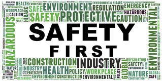 Safety in workplace concept Stock Photo