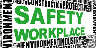 Safety in workplace concept Royalty Free Stock Images