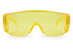 Safety yellow glasses Royalty Free Stock Photo