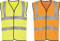 Safety yellow and orange vests. Vector illustration Royalty Free Stock Photos