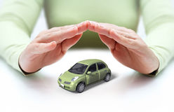 Safety your car - hands covering Royalty Free Stock Image