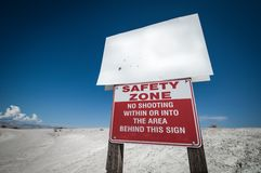 Safety zone desert Stock Image