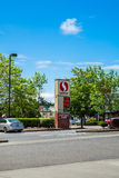 Safeway fuel station. Price for fuel at Safeway fuel station stock photography