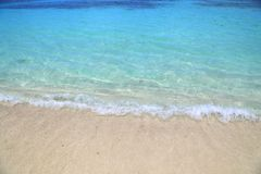 Saffierstrand op St Thomas eiland stock foto