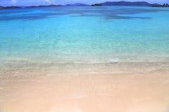 Saffierstrand op St Thomas eiland stock fotografie