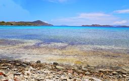 Saffierstrand op St Thomas eiland stock afbeeldingen