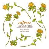 Saffloer vectorreeks royalty-vrije illustratie