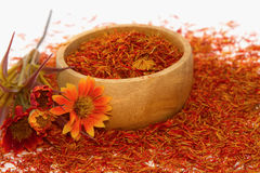 Safflower, False Saffron Stock Photography