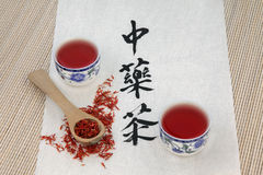 Safflower Herb Tea Stock Photos