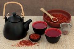 Safflower Herb Tea stock image