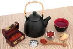 Safflower Herbal Tea Royalty Free Stock Photos