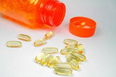 Safflower Oil Capsules Royalty Free Stock Images