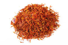 Safflower on white background Royalty Free Stock Images