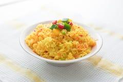 Saffran Fried Rice Fotografering för Bildbyråer