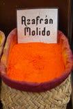 Saffron. For sale at a market Stock Images