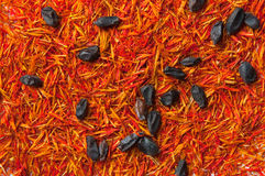 Saffron and barberry spice Stock Photos