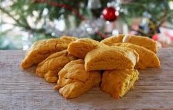 Saffron biscuits Stock Image