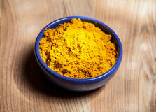 Saffron in the blue bowl Stock Photography