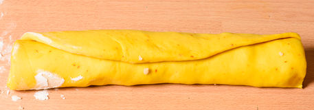 Saffron bun dough Royalty Free Stock Photos