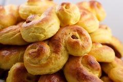 Saffron buns against a gray background Stock Images