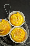 Saffron buns with almond paste filling Stock Photography