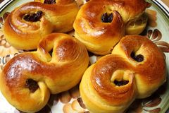 Saffron buns Royalty Free Stock Photography