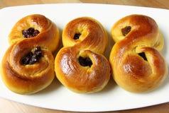 Saffron buns Stock Image