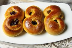 Saffron buns Royalty Free Stock Photos