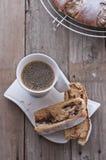 Saffron coffee cake stock image
