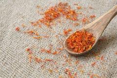Saffron crimson stigmas Royalty Free Stock Image