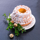 Saffron Easter Babka Royalty Free Stock Images