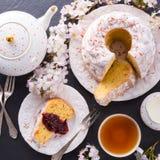 Saffron Easter Babka Royalty Free Stock Image