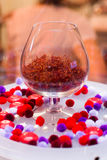 Saffron in a glass royalty free stock photography