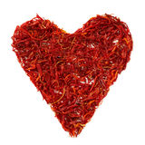 Saffron heart. On white background Royalty Free Stock Image