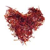 Saffron heart stock image
