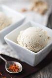 Saffron ice cream Stock Photos
